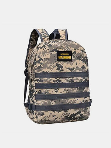 Camouflage Oxford Cloth Student School Bag Fashion Game Trend Backpack