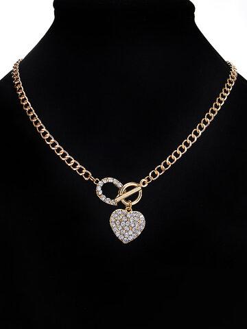 Elegant Heart Pendant Necklace