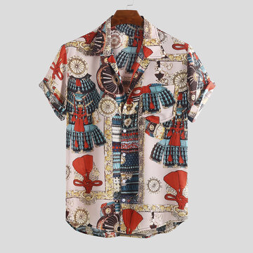 Mens Funny Artistic Printed Loose Shirts