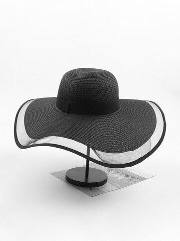 Mesh Vogue Sunscreen Bucket Straw Hat