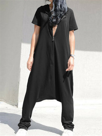 Lässiger Drop-Crotch Jumpsuit