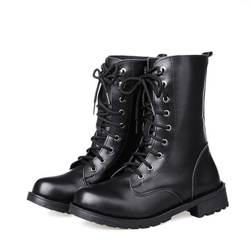 Women Lover Soft Round Toe Elegant Black Boots