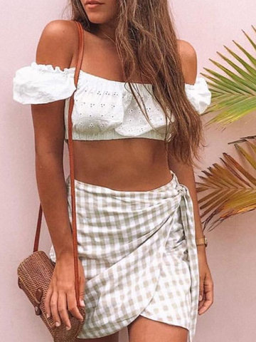 Sexy Lace Hollow Crop Tops