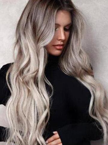 Gradient Big Wavy Long Curly Hair