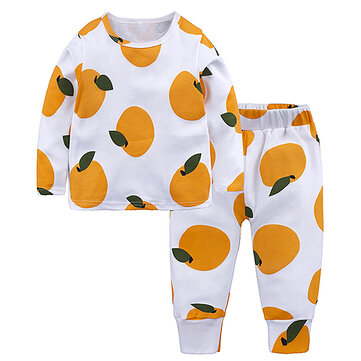 Baby Boys Girls Long Sleeve Sleepwear Leisure Wear Kids Pajamas Set Girl Children Clothes Sets