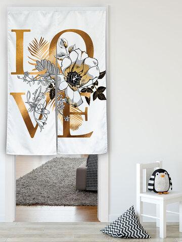 English Love Background Tapestries Cloth Curtain Room Art Decoration Split Piece