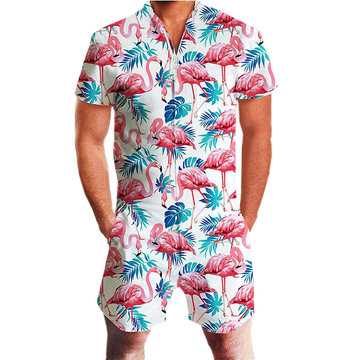 Hawaii-Strand-Druck Jumpsuit