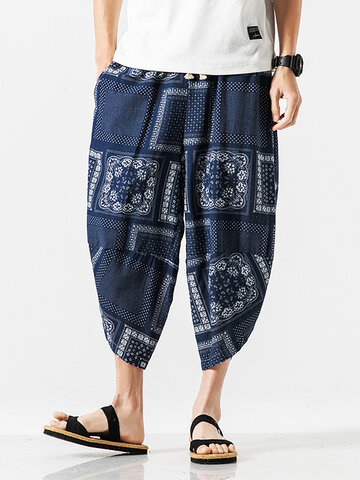 Ethnic Style Casual Harem Pants