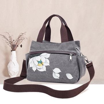 Canvas Tote Handbags Chinese Shoulder Bags