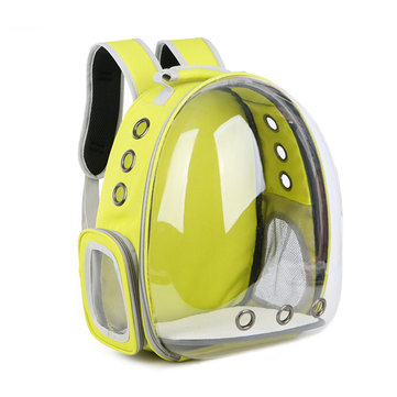 3 Colors Breathable Transparent Pet Dog Cat Travel Backpack