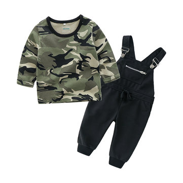 Camouflage Print Boys Set For 1Y-7Y