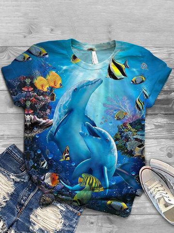 Animals Print Casual T-shirt