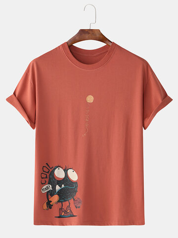 99% Cotton Fun Cartoon Monster Print T-Shirts
