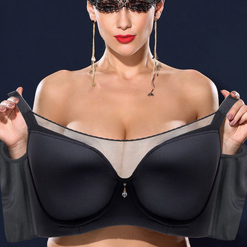 Plus Size Push Up Seamless Full Cup Dünner BH