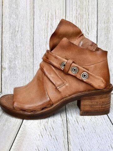 Peep Toe Belt Buckle High Top Heels Sandals
