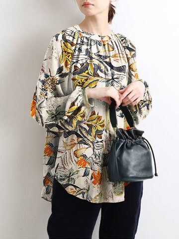 Casual Flower Print Blouse