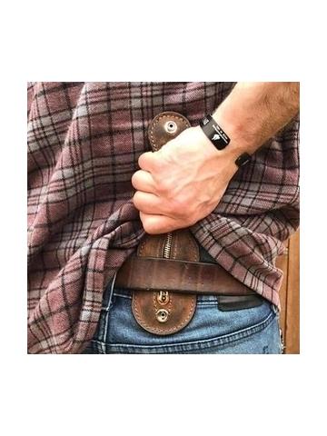 Men EDC Vintage Leather Bag Self-Defense Coin Purse Coin Wallet