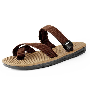 Homens Hook Loop Roman Sandals