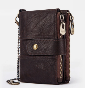 Women Men RFID Genuine Leather Coin Bag Wallet