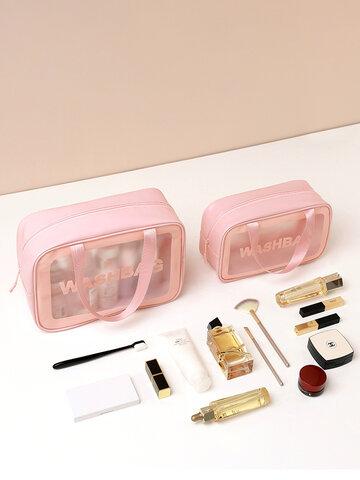 Mattierte tragbare Kosmetiktasche