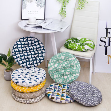 Thicken Round Shape Linen Cotton Seat Cushion