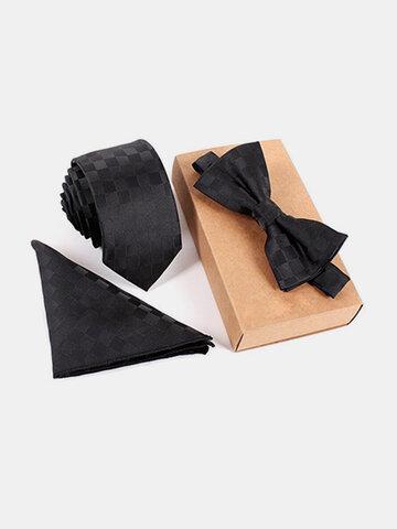 Cravate et Noeud Papillon avec Pochette Ensemble Vintage à Business pour Homme