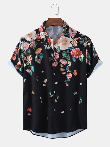 Ethnic Floral Print Casual Shirts
