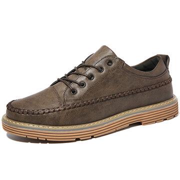 Menico Men - Chaussures de sport antidérapantes en cuir microfibre