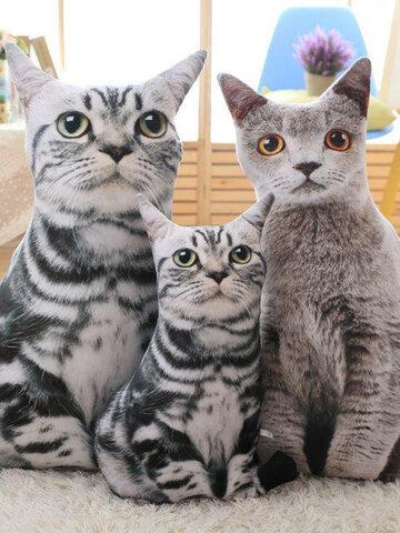 Oreillers pour chats de simulation créative de 19,7 po Soft