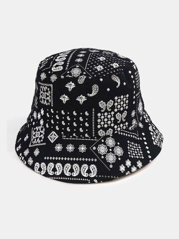 यूनिसेक्स ओवरले पैस्ले पैटर्न बाल्टी टोपी