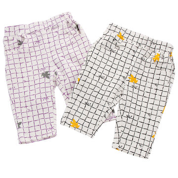 Plaid Kids Boys Girls Summer Pants