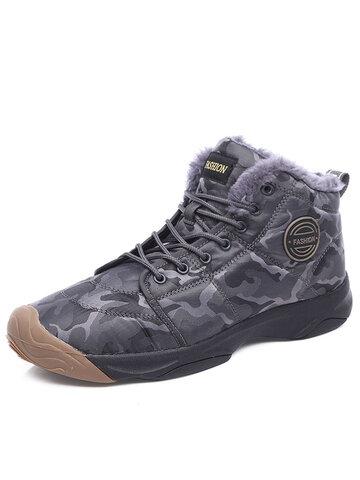 Men Outdoor Waterproof Warm Hiking Boots