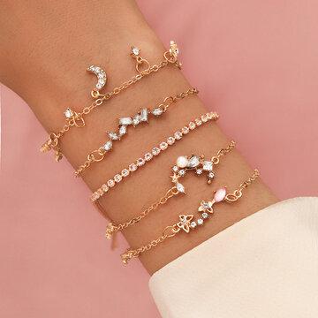 5Pcs Butterflies Bracelet Set