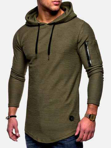 Breathable Long Sleeve Hooded T Shirts