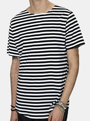 Hip-Hop Striped Printed Summer T Shirts