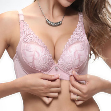 Lace Gather Deep Plunge Bras