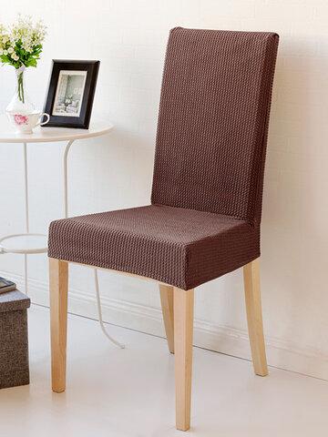 Dinning Chair Cover Thicken Spandex Polar Fleece Elastic Stretch Seat