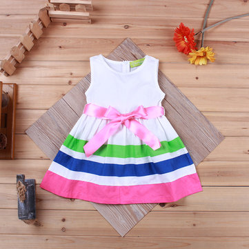 Striped Toddlers Girls Pageant Dresses