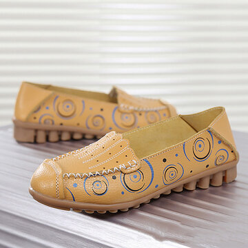 Pattern Hollow Out  Soft Loafers