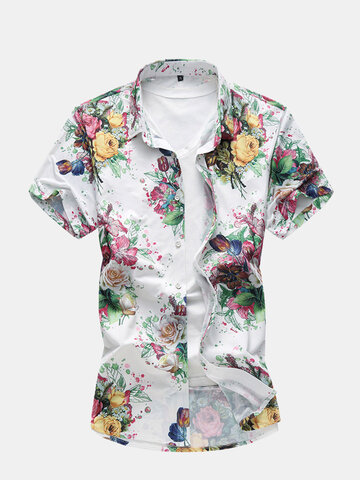 Flower Printing Hawaiian Shirts