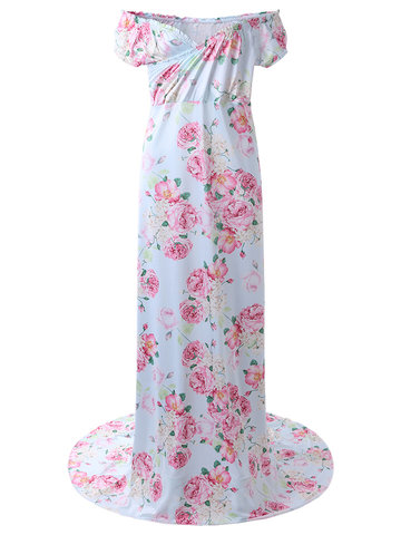 Floral Sexy Maxi Maternity Dress