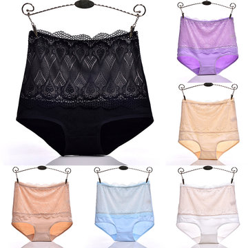 High Waist Lace Patch Cotton Maternity Panties