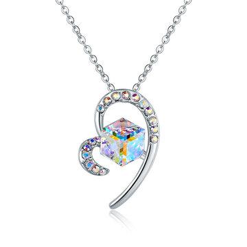 Collane di cristallo del cuore di moda