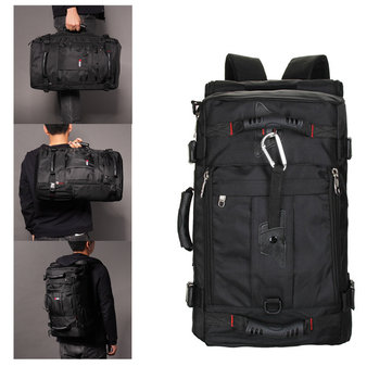 Men Oxford Backpack Casual Multi-functional Crossdody Bag