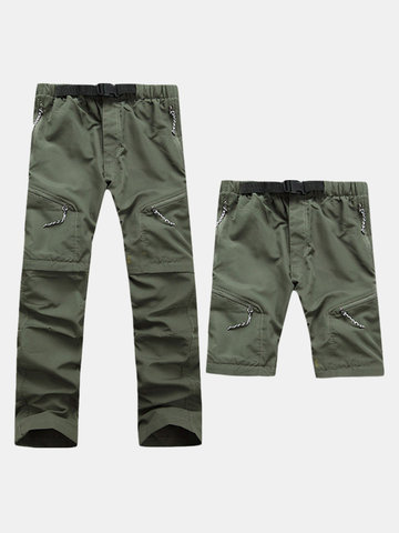 Mens Outdoor staccabile Pantaloni Quick Dry Sport Outdoor Nylon Pantaloncini da trekking