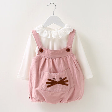 Sweet Baby Girl Top Braces Suits For 6-36M
