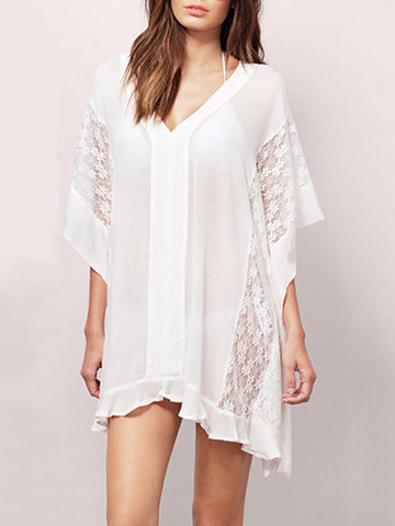 Causal Lace Summer Beach Wear Cover up Kimonos