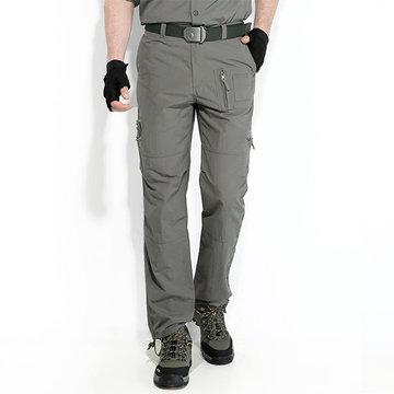 Hombres al aire libre Secado rápido Impermeable Pantalones deportivos casuales a prueba de viento Tactical Pantalones Monos