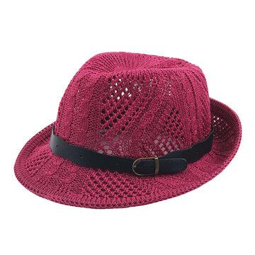 Women Caddice Weave Gridding Jazz Hat