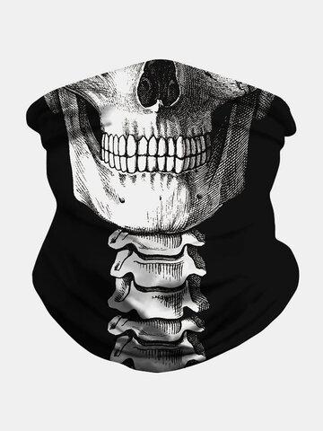 قناع وجه مطبوع بغطاء رأس جمجمة شال مقاوم للحشرات